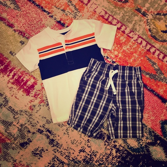 Multiple Brands Other - 5/$25 - Boys White/Orange/Navy Outfit  - sz 5